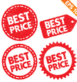 Stamp sticker best price tag collection vector image