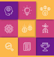 startup line icons creative process idea vector image vector image