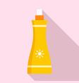 sunscreen spray icon flat style vector image vector image
