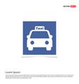 taxi icon - blue photo frame vector image