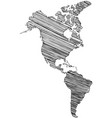 territory continents - north america south vector image