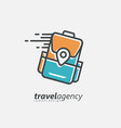 travel agency logo design template vector image vector image