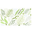 tropical leaves clip art flat design objects vector image vector image