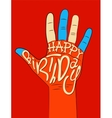 Typographical retro Birthday Card vector image vector image