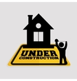 under construction worker house tape measuring vector image vector image