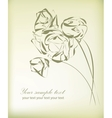 Vintage flower greeting card vector image vector image