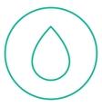 Water drop line icon vector image vector image