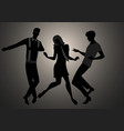we are mods silhouettes of two guys and girl vector image vector image