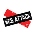 web attack rubber stamp vector image