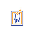 window cleaning line icon washing service vector image