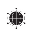 world network black concept icon world vector image