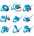 Wwoosh Symbol Logo Icons vector image vector image