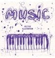 piano doodle vector image