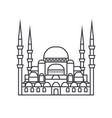 turkish mosque line icon sig vector image