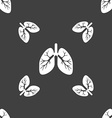 Lungs sign Seamless pattern on a gray background vector image