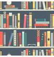 Seamless pattern with books on bookshelves vector image