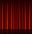 seamless red curtain with stage vector image