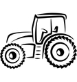 simple with a tractor vector image