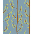 Trees seamless pattern Trunk and leaf texture vector image