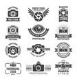 logotypes and symbols of photo studios vector image