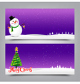037 Merry Christmas banner Collection of greeting vector image vector image