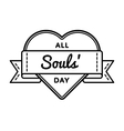 All Souls day holiday greeting emblem vector image vector image
