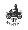 ATP Quad Bike For Rent Label Design Black And vector image vector image