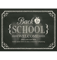 back to school black chalk board background vector image vector image