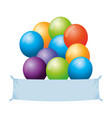 balloons helium floating with banner vector image