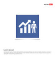 business man with growing graph icon - blue photo vector image