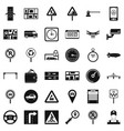 car in city icons set simple style vector image vector image