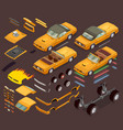 car tuning snyling parts isometric set vector image vector image