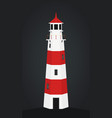 cartoon lighthouse building onshore vector image vector image