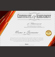 certificate or diploma retro vintage template 5 vector image vector image