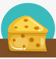 cheese piece healthy food vector image