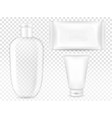 cosmetic container and package vector image