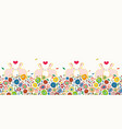 cream easter pattern with colorful dots and bunny vector image vector image