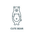 cute bear line icon cute bear outline vector image