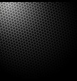 dark background with hexagons background vector image vector image
