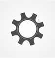 development concept gray silhouette gear or cog vector image vector image