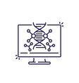 dna research and genetics line icon vector image vector image