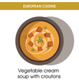 european cuisine vegetable soup traditional dish vector image vector image