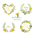 Flower Banners and Tags Floral Wreath Set vector image vector image