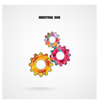 Geometric Gears Infographics Number Options Banner vector image