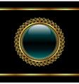 golden floral medallion for packing - vector image vector image