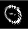halftone circle perspective frame dots logo emblem vector image vector image