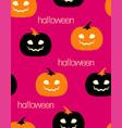 halloween pattern with orange and black pumpkins vector image vector image