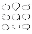 hand drawn speech bubbles vector image vector image