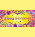 happy hanukkah celebration banner with holiday vector image