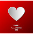 happy valentines day background paper origami vector image vector image